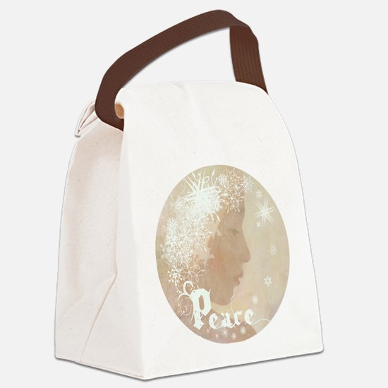 peace water angel rondo b4L Canvas Lunch Bag