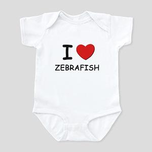 I love zebrafish Infant Bodysuit