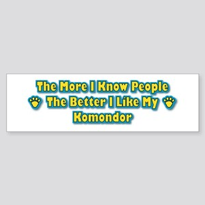 Like My Komondor Bumper Sticker