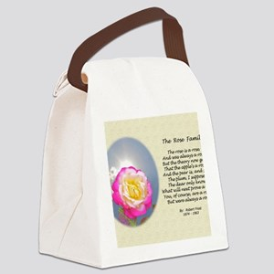 Robert Frost Poetry Poster, The R Canvas Lunch Bag
