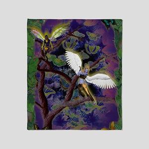 nocne aniolki/night little angels Throw Blanket