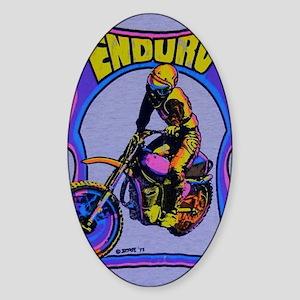 Enduro rider Sticker (Oval)