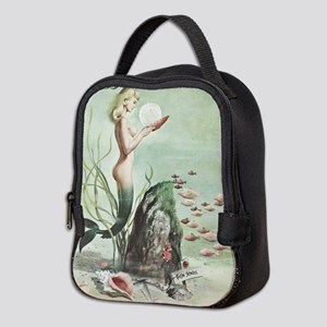 Retro Pin Up 1950s Mermaid with School of Fish Neo