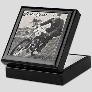moped vintage racing Keepsake Box