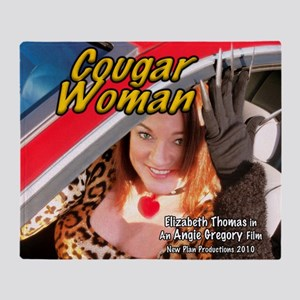 Cougar Woman Throw Blanket