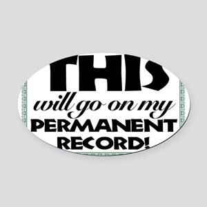 permanent Oval Car Magnet