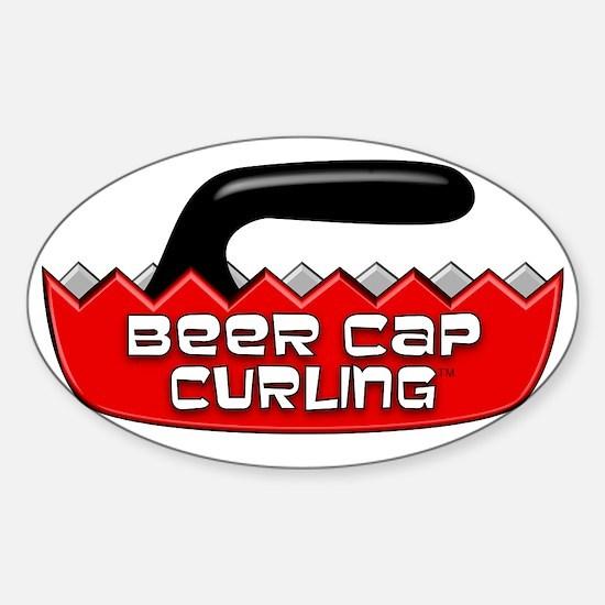 BeerCapCurling - LOGO Sticker (Oval)