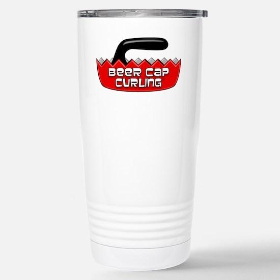 BeerCapCurling - LOGO Stainless Steel Travel Mug