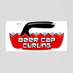 BeerCapCurling - LOGO Aluminum License Plate
