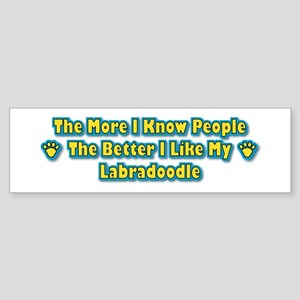 Like My Labradoodle Bumper Sticker