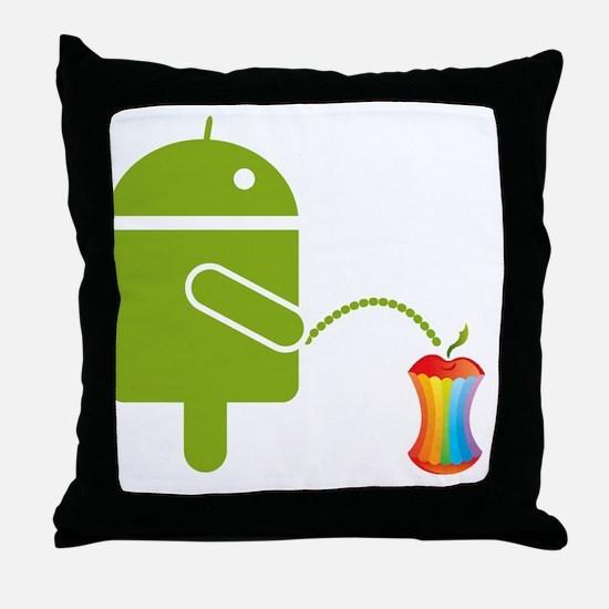 droidside.gif Throw Pillow
