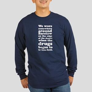 Somewhere Around Barstow Long Sleeve Navy T-Shirt