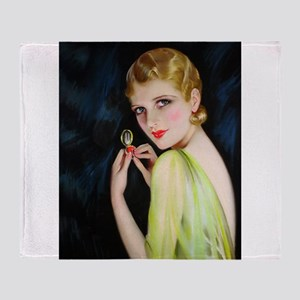 Art Deco Flapper Jazz Age 1920s With Compact Makeu