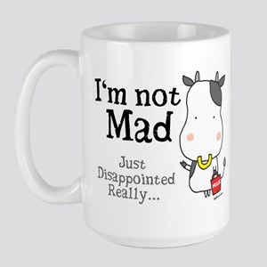 Disappointed Cow Large Mug