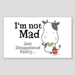Disappointed Cow Rectangle Sticker