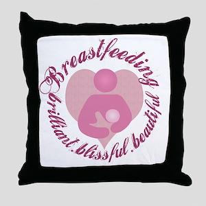breastfeeding-brilliant-beautiful Throw Pillow