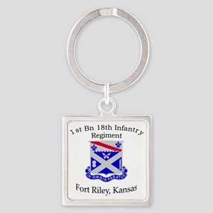 1st Bn 18th IN Square Keychain