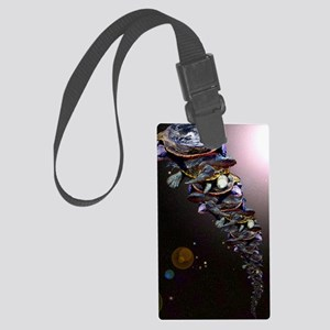 Turtles All The Way Down Large Luggage Tag