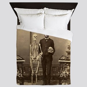 Abraham Lincoln with Skeleton and Skull Altered Ar