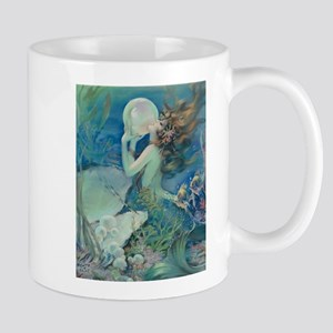 Art Deco Art Nouveau Mermaid With Pearl Pin Up Mug
