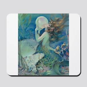 Art Deco Art Nouveau Mermaid With Pearl Pin Up Mou