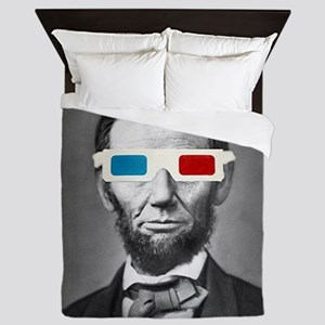Abraham Lincoln 3D Glasses Altered Att Queen Duvet