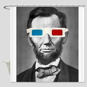 Abraham Lincoln 3D Glasses Altered Att Shower Curt