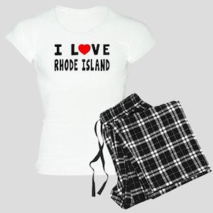 I Love Rhode Island Women's Light Pajamas