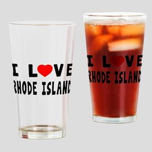 I Love Rhode Island Drinking Glass