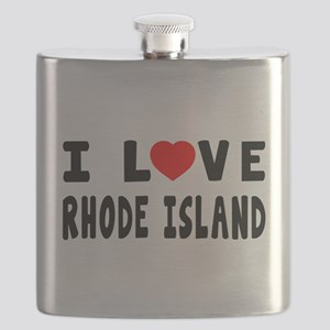 I Love Rhode Island Flask