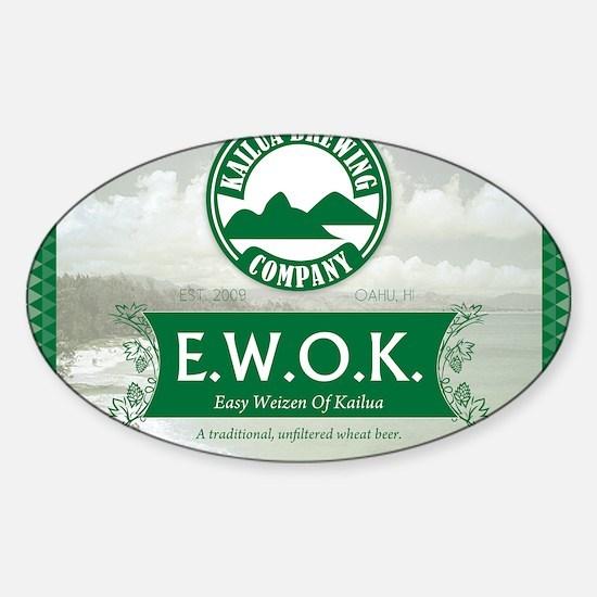 EWOKlabel-backofshirt Sticker (Oval)