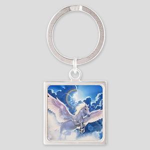 pegasus flying high Square Keychain