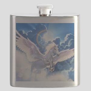 pegasus flying high Flask