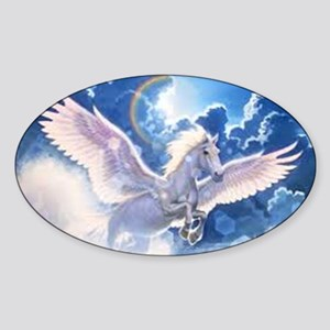 pegasus flying high Sticker (Oval)