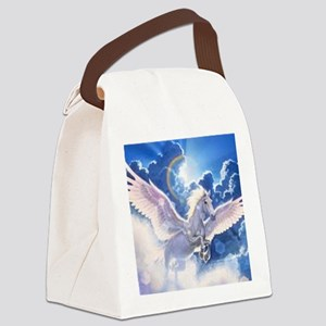 pegasus flying high Canvas Lunch Bag