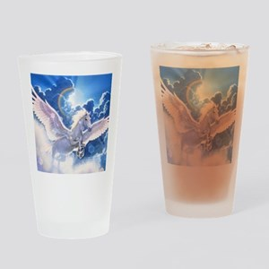 pegasus flying high Drinking Glass