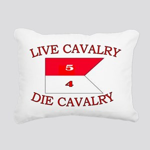 5th Squadron 4th Cav cap Rectangular Canvas Pillow