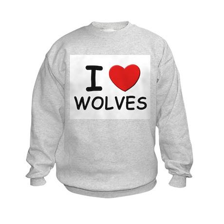 I love wolves Kids Sweatshirt
