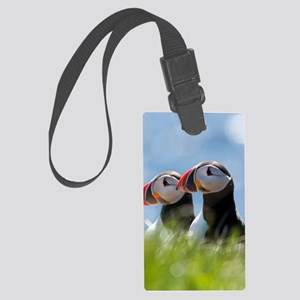 Puffin Pair 7.355x9.45 Large Luggage Tag