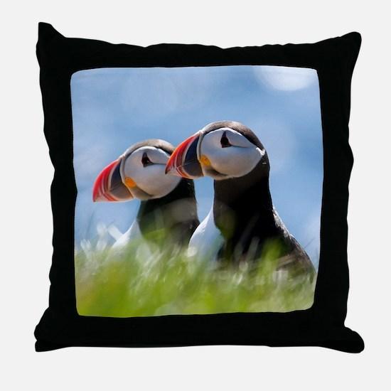 Puffin Pair 7.355x9.45 Throw Pillow