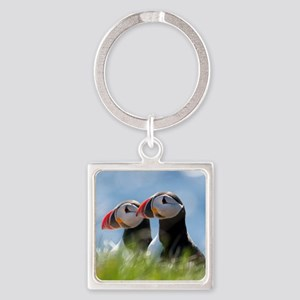 Puffin Pair 7.355x9.45 Square Keychain