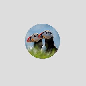 Puffin Pair 7.355x9.45 Mini Button