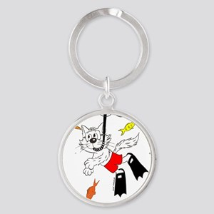 Snorkle in Color Round Keychain