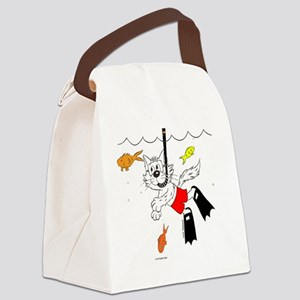 Snorkle in Color Canvas Lunch Bag