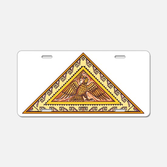 Aztec Golden Eagle Aluminum License Plate
