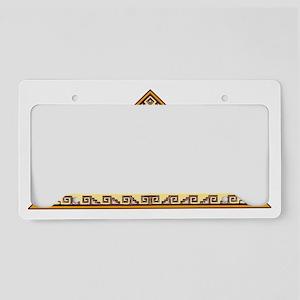 Aztec Golden Eagle License Plate Holder