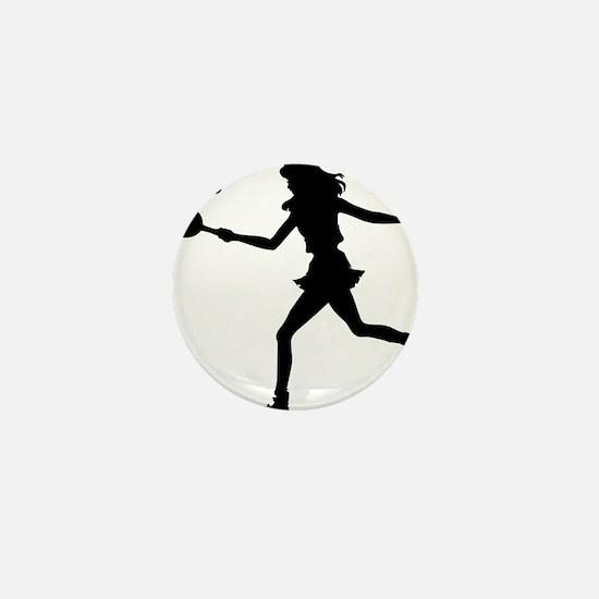Tennis Lady.eps Mini Button