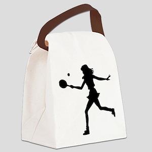 Tennis Lady Canvas Lunch Bag