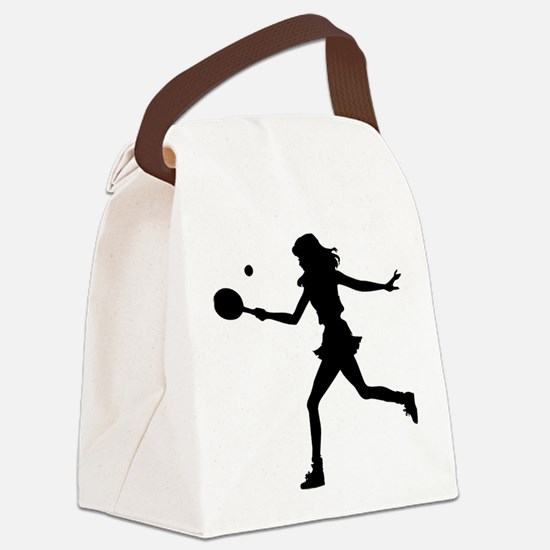 Tennis Lady.eps Canvas Lunch Bag