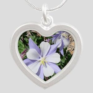 columbine_TC Silver Heart Necklace